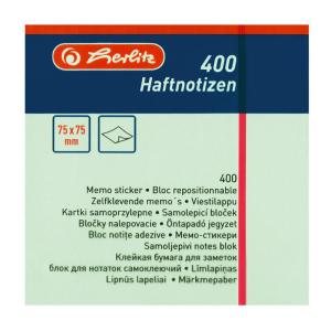 herlitz Haftnotizblock - 75 x 75 mm - 400 Blatt - pastell