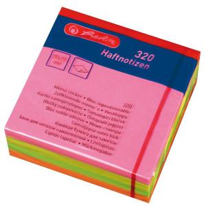 herlitz Haftnotizblock - 75 x 75 mm - 320 Blatt - neon