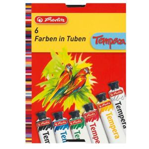 herlitz Temperafarbe - 6 Tuben