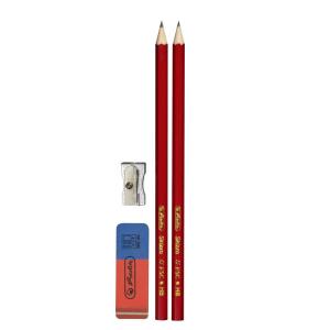 herlitz Skizzo Bleistift Set - 4 Teile - Härtegrad HB
