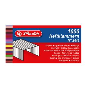 herlitz Heftklammer No.24/6 - verzinkt - 1000 Stück