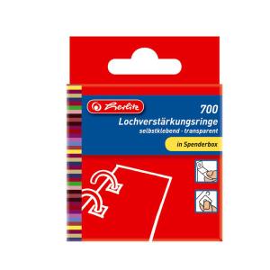 herlitz Lochverstärkungsringe - 11 mm - transparent...