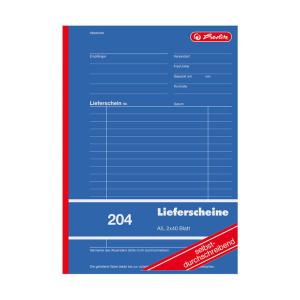herlitz Lieferscheinbuch 204 - DIN A5 - 2 x 40 Blatt -...