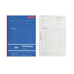 herlitz Rechnungsbuch 304 - DIN A5 - 2 x 50 Blatt