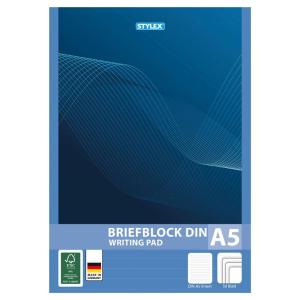 Stylex Briefblock - DIN A5 - liniert - 1 Stück