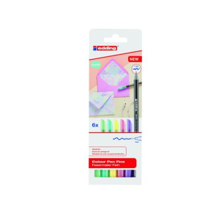 edding 1200 colour pen fine Fasermaler - 1 mm - 6er Set