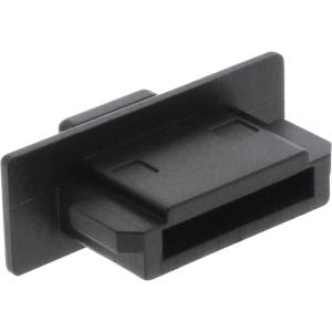 4er Pack InLine Staubschutz, für eSATA Buchse, schwarz