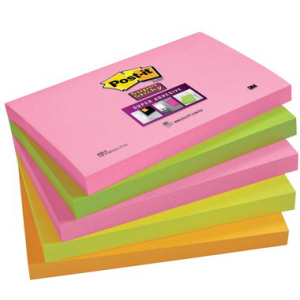Post-it Haftnotiz Super Sticky Neonfarben, 127x76mm,...