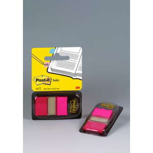 Post-it Haftstreifen Index, 50 Streifen, 25,4x43,2mm, pink