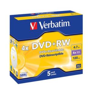 Verbatim DVD Rewritable DVD+RW 4,7 GB, Jewelcase, 4-fach