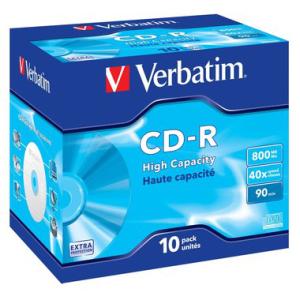 Verbatim CD-R 90 Min./800 MB High Capacity, 40-fach,...