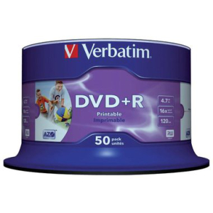 Verbatim DVD Recordable DVD+R 4,7 GB printable, 16-fach,...