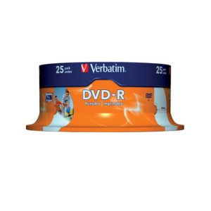 Verbatim DVD Recordable DVD-R 4,7 GB printable, 16-fach,...