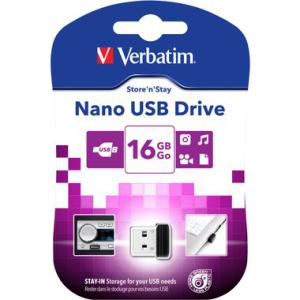 Verbatim Speicherstick USB 2.0 Nano Store N, 16 GB, schwarz