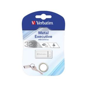 Verbatim Speicherstick USB Stic 2.0 Metal, 32 GB, USB...