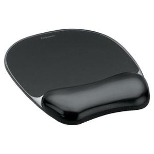 Fellowes Mousepad Gel transparent, 20,0x23,0x2,5cm, schwarz