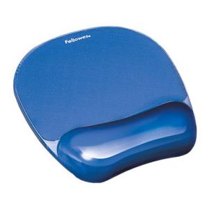 Fellowes Mousepad Gel transparent, 20,1x23,4x2,5cm, blau