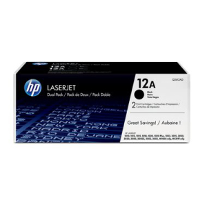 HP 12AD Original Lasertoner Doppelpack - black