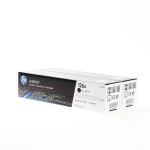 HP 126A Original Lasertoner Doppelpack - black