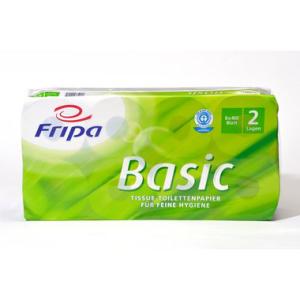 Fripa Toilettenpapier, Sorte RC BASIC, 8x400 BL, 2-lagig,...