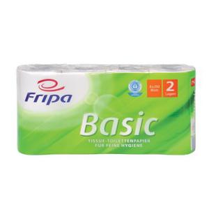 Fripa Toilettenpapier, Sorte RC BASIC, 8x250 BL, 2-lagig,...