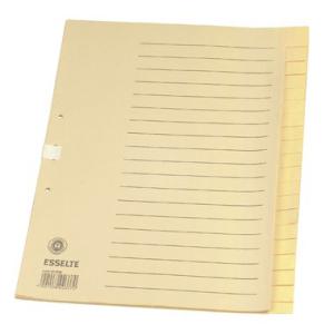 Esselte Register blanko Tauenpapier, 20 Blatt, A4, 100...