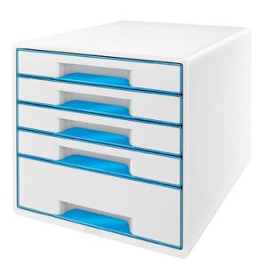 Leitz Schubladenbox WOW Cube - DIN A4 - 5 Schubladen -...