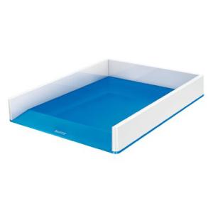 Leitz Briefkorb WOW Duo Colour - DIN A4 - weiß+blau...