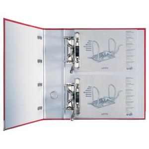 Leitz Doppelordner - DIN A4 - 2 Mechaniken - 7,5 cm - rot
