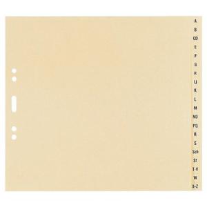 Register A-Z Tauenpapier, A5, 20 Blatt, lichtgrau
