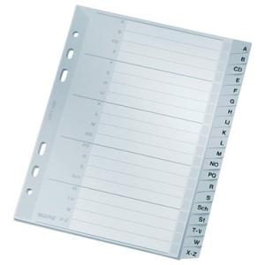 Leitz Register A-Z - DIN A5 - Kunststoff - grau - 20 Blatt