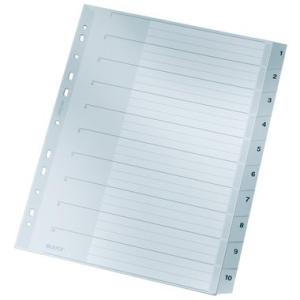 Leitz Zahlenregister - DIN A4+ - 1-10 - Kunststoff - grau...