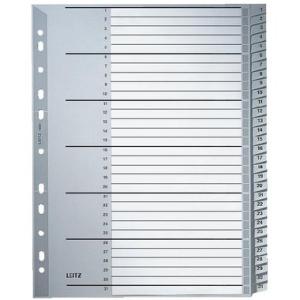 Leitz Zahlenregister - DIN A4+ - 1-31 - Kunststoff - grau...