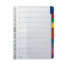 Leitz Register - DIN A4 - blanko - Karton - farbige Tabe...