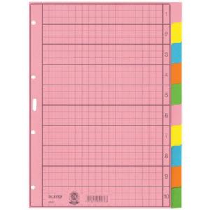Leitz Register - DIN A4 - blanko - Tauenpapier - farbig -...