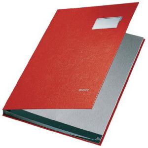 Leitz Unterschriftenmappe - DIN A4 - 10 Fächer - rot