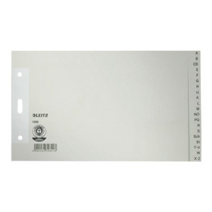 Leitz Register A-Z - DIN A5 quer - Tauenpapier - grau -...