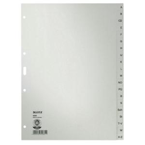 Leitz Register A-Z - DIN A4 - Tauenpapier - grau - 20 Blatt