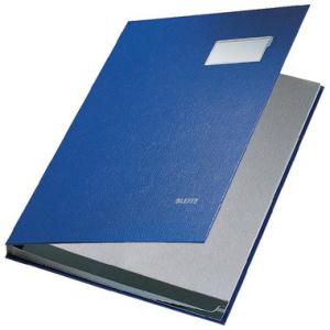 Leitz Unterschriftenmappe - DIN A4 - 10 Fächer - blau