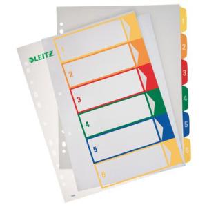 Leitz Zahlenregister PC-beschriftbar - DIN A4 - 1-6 -...