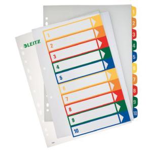 Leitz Zahlenregister PC-beschriftbar - DIN A4 - 1-10 -...