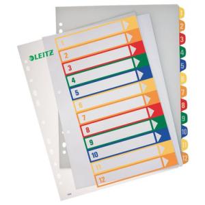Leitz Zahlenregister PC-beschriftbar - DIN A4 - 1-12 -...