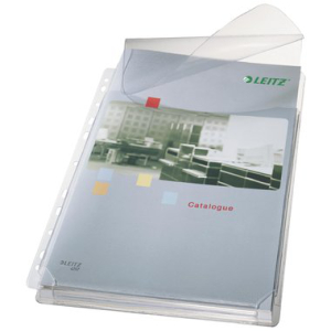 Leitz Prospekthülle Maxi - DIN A4 - mit Falte und...