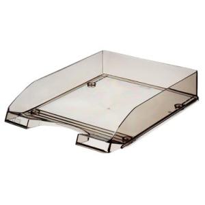 Leitz Briefkorb Plus transparent - DIN A4 - grau transparent