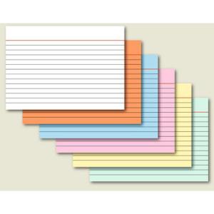 Karteikarten liniert, A7, 180 g/qm, orange