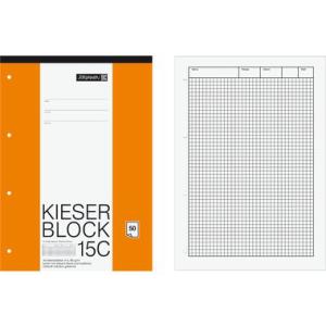 Brunnen Schreibblock Kieser Aqua, kariert, A4