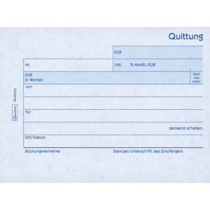 Avery Zweckform Formulare, Quittung inkl. MwSt. und...