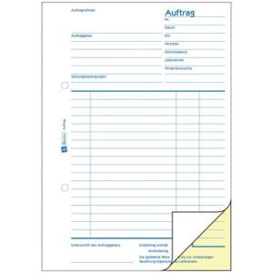 Avery Zweckform Formulare selbstdurchschreibend, Auftrag,...