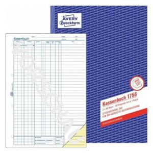 Avery Zweckform Formulare Kassenbuch, EDV-gerecht, 2x40...