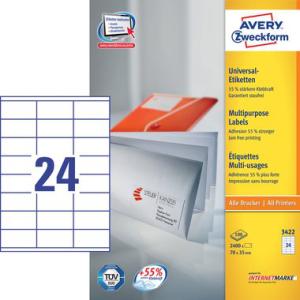 Avery Zweckform Etiketten  70,0 x 35,0 mm - weiß -...